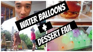 Girls vs Boys Water Fight and Fail date | Vlog #7