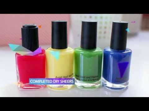 Easy DIY Sheer Tint JELLY Polish & Stained Glass Nails!