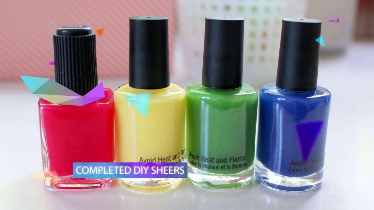 Easy DIY Sheer Tint JELLY Polish & Stained Glass Nails! - YouTube