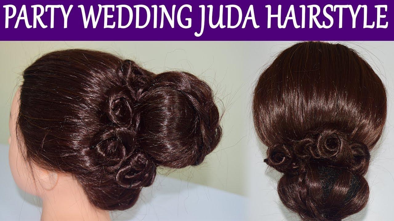 Hairstyle Tutorial Party Wedding Juda Hairstyle Bun Hairstyle