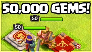 Clash of Clans UPDATE - 50,000 Gems = LEVEL 50 HEROES?!