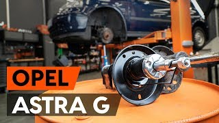 rear left right Coil springs change on OPEL ASTRA G Hatchback (F48_, F08_) - video instructions