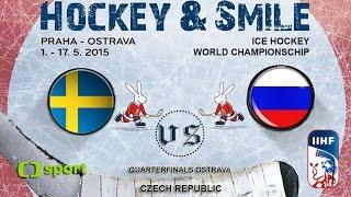 Sweden vs. Russia - Quarterfinals - Ice Hockey World Championschip 2015