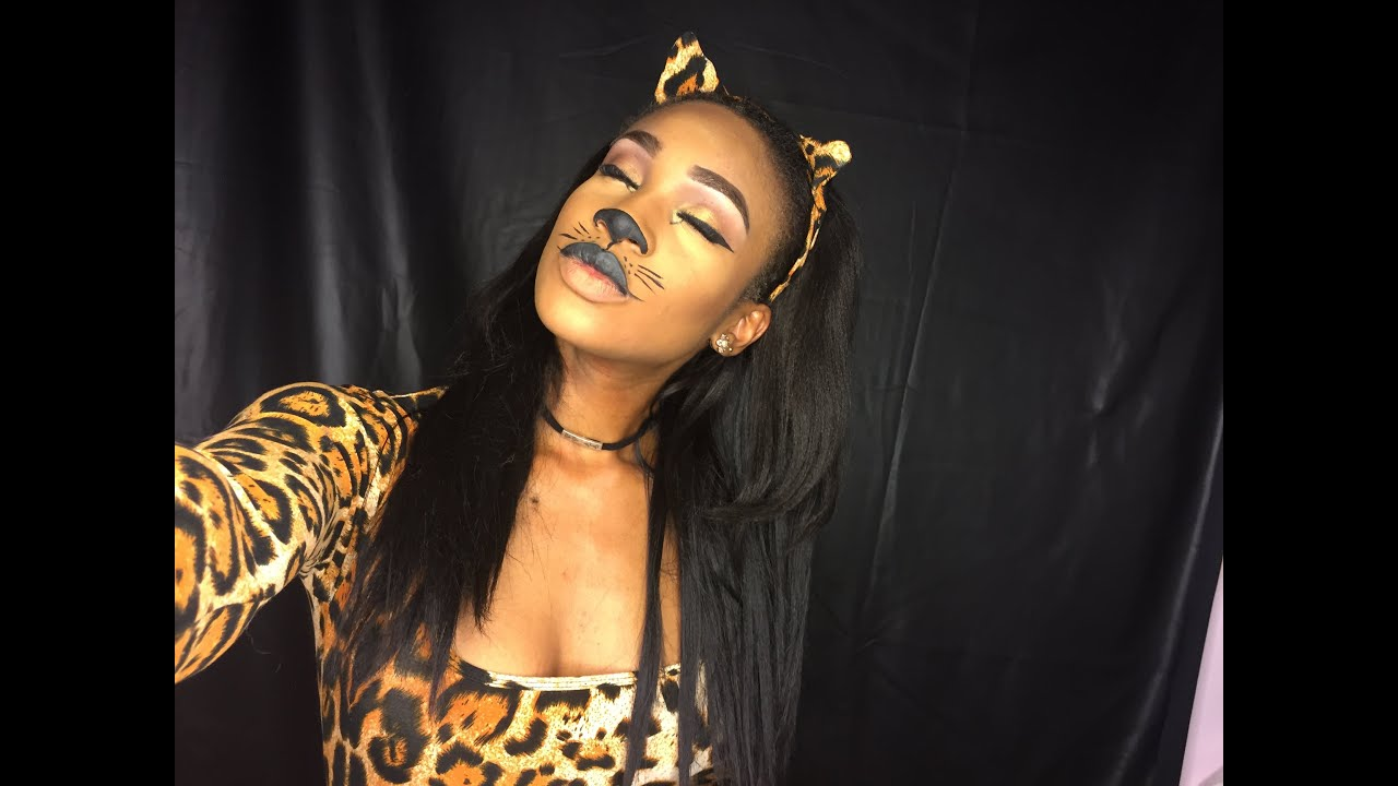 Glam Cheetah Halloween Makeup Tutorial I Golden Girls - YouTube