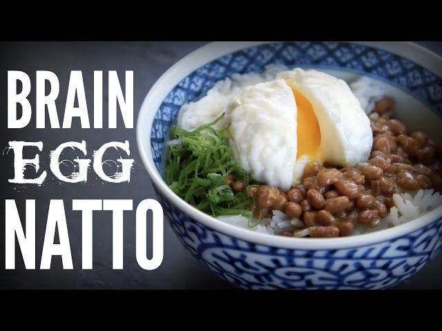 BRAIN EGG NATTO Bowl | a brain-shaped egg & stinky beans on rice