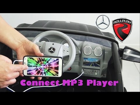 Mercedes ride on car GL-450 - How To Connect Mp3 Player