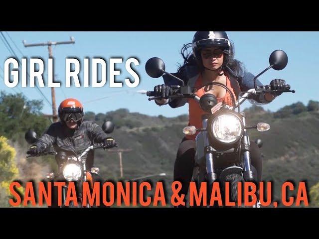 Girl Rides Scrambler Ducati Sixty2 Through Santa Monica and Malibu