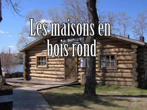 Les maisons en bois rond youtube for Maison bois rond