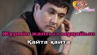Сержанали Алибек Гашык журек караоке, казакша караоке