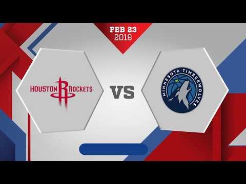 Minnesota Timberwolves vs. Houston Rockets - February 23, 2018