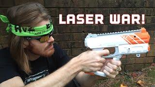 Bobo Vs. Drac  (Epic Recoil Laser Battle)