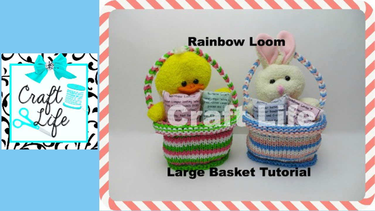 Craft Life Large Rainbow Loom Basket Tutorial - YouTube Rainbow Loom Mini Purse Craft Life