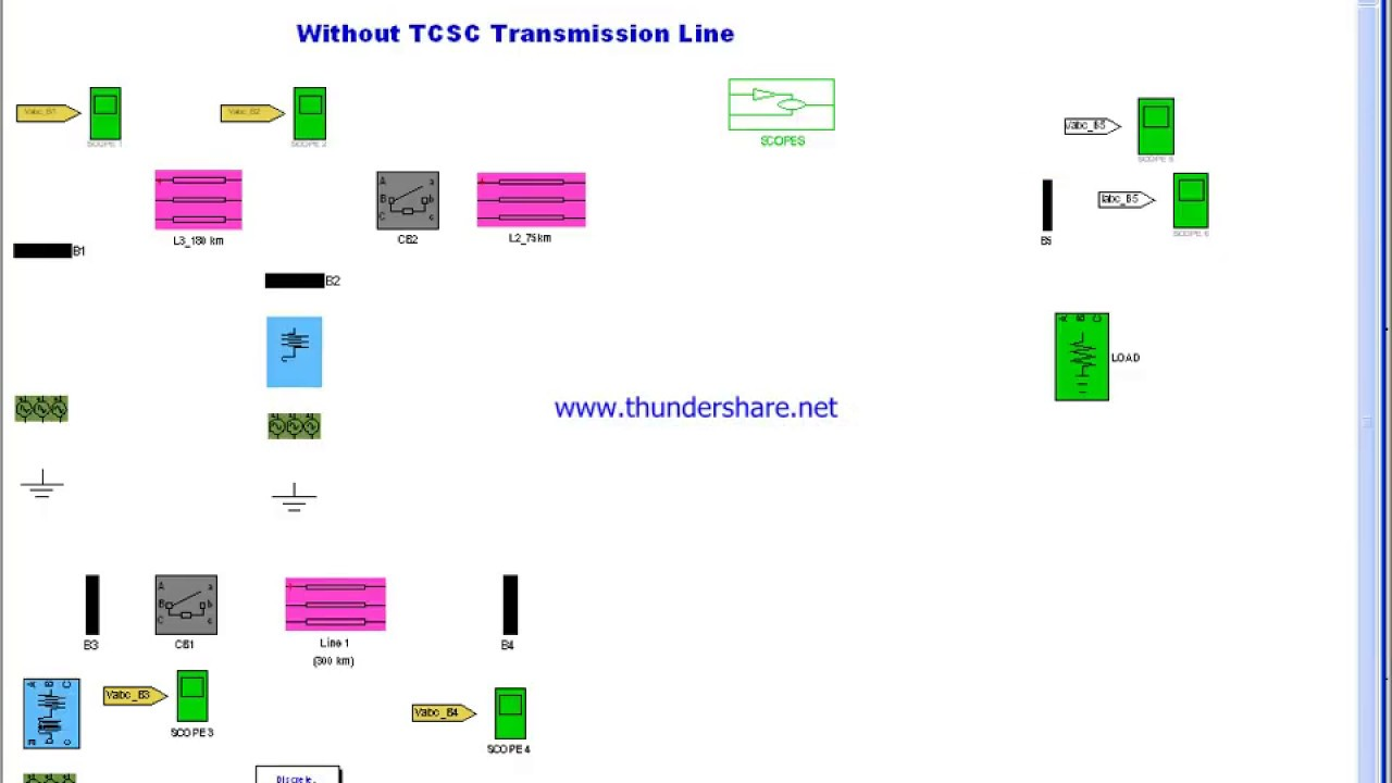 5 Bus Power Transmission Line using TCSC - File Exchange - MATLAB