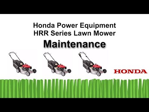 HRR216 Series Lawn Mower Maintenance