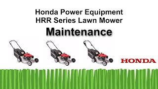 HRR216 Series Lawn Mower Maintenance