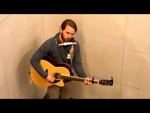 Berlin subway musician plays Neutral Milk Hotel - Holland 1945