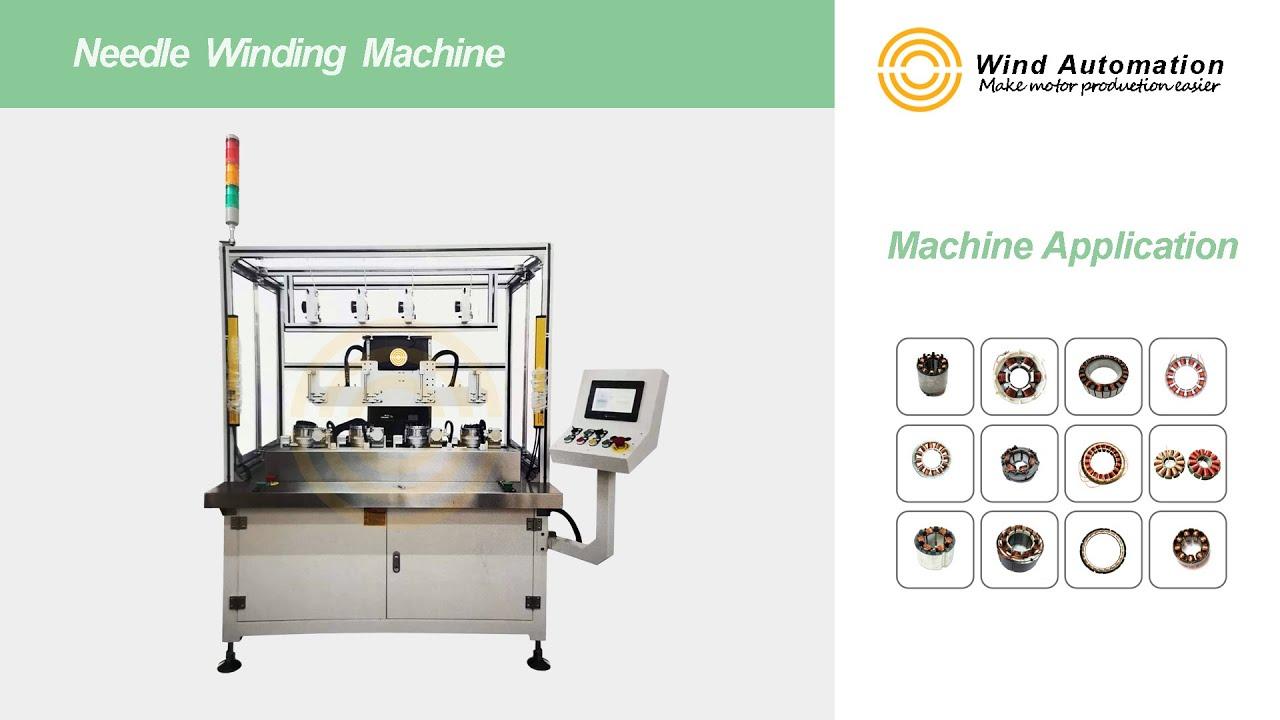 4 Station Brushless Motor Needle Winding Machine