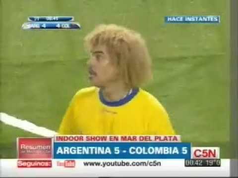 Argentina y Colombia empataron en IndoorShow