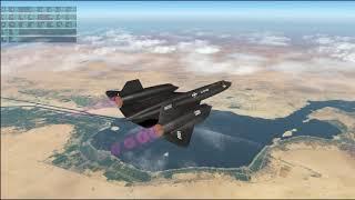 X-Plane 11 - SR-71 06 - Athens to Dubai