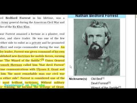 YANKEE LIES, Nathan Bedford Forrest Never was KLAN