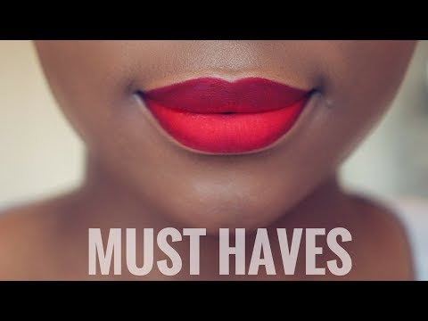 MY TOP 5 RED LIP COLOURS FOR BLACK WOMEN/ WOMEN OF COLOUR