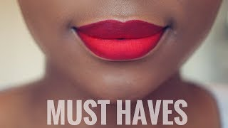 5 MUST HAVE RED LIPSTICKS FOR BLACK WOMEN/ WOMEN OF COLOUR | DIMMA UMEH