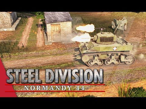 French-Canadian Attack! Steel Division: Normandy 44 Gameplay #31 (Sainte-Mère-Église, 3v3)