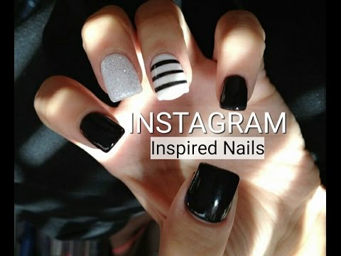 Instagram Nail Art Inspired Nail Designs Black White Color