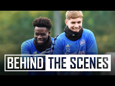 Training in the snow | Behind the scenes at Arsenal training centre