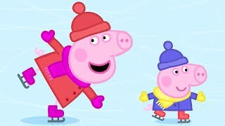 Peppa Pig Episodes in 4K | Ice Skating with Peppa! | 12 DAYS OF PEPPA'S CHRISTMAS 🎄
