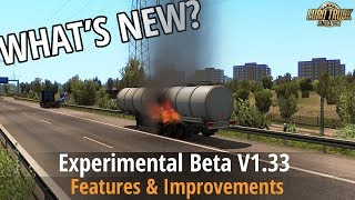 ETS2 v1.33 - What's New? [Experimental Beta] Rain Drops improved, Double flatbed, Physics