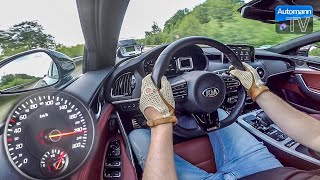 2018 KIA Stinger GT (370hp) - 0-253 km/h acceleration (60FPS)
