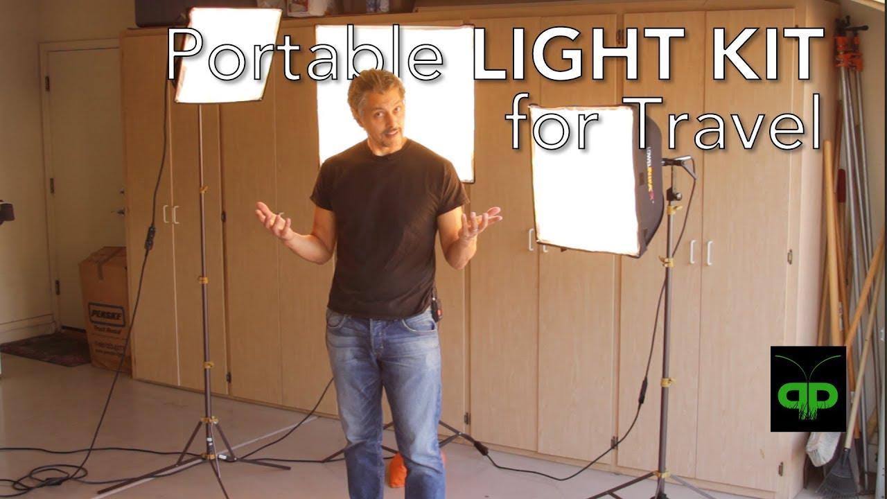 Portable LIGHT KIT for TRAVEL: Lowel Rifa