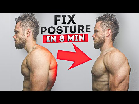 How To FIX Rounded Posture in 8 min (DO IT EVERY DAY)