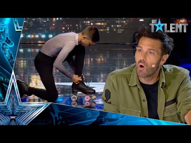 Este patinador hace lo que NUNCA IMAGINARÍAS en su actuación   Audiciones 6   Got Talent España 2021