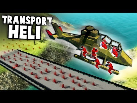 AMAZING NEW Transport Helicopter!  (Ravenfield Gameplay - Beta Branch New Updates)