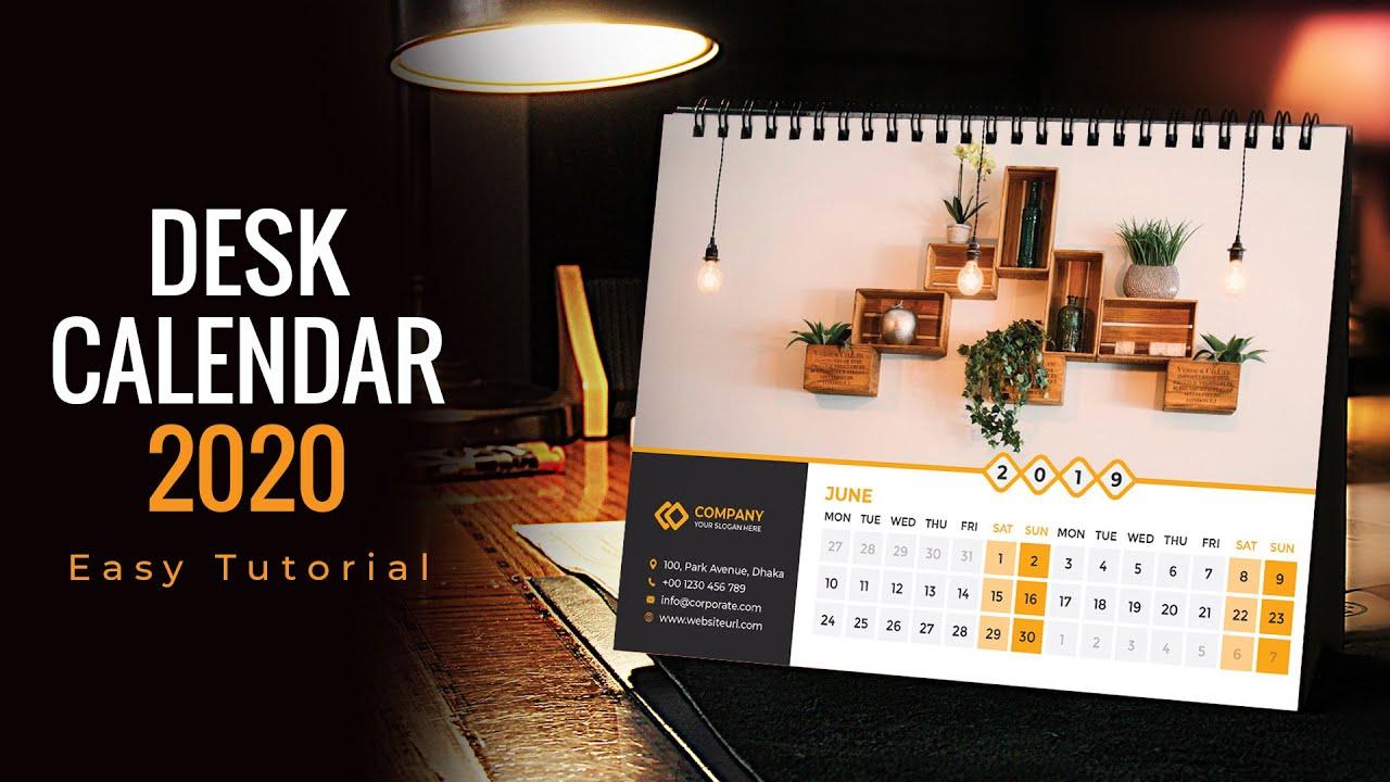 how to create a desk calendar in illustrator