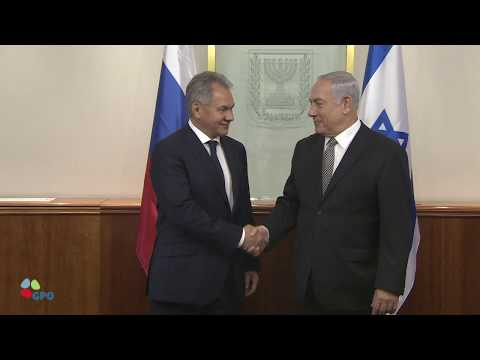PM Netanyahu Meets with Russian Minister of Defense Sergei Shoigu