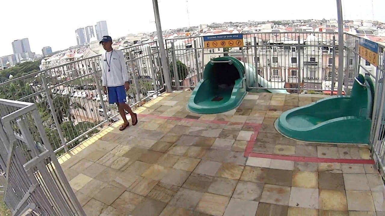 Dark Hole Water Slide At Waterbom Jakarta Youtube Voucer