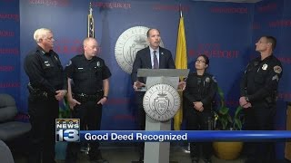 Albuquerque police officers honored for buying woman