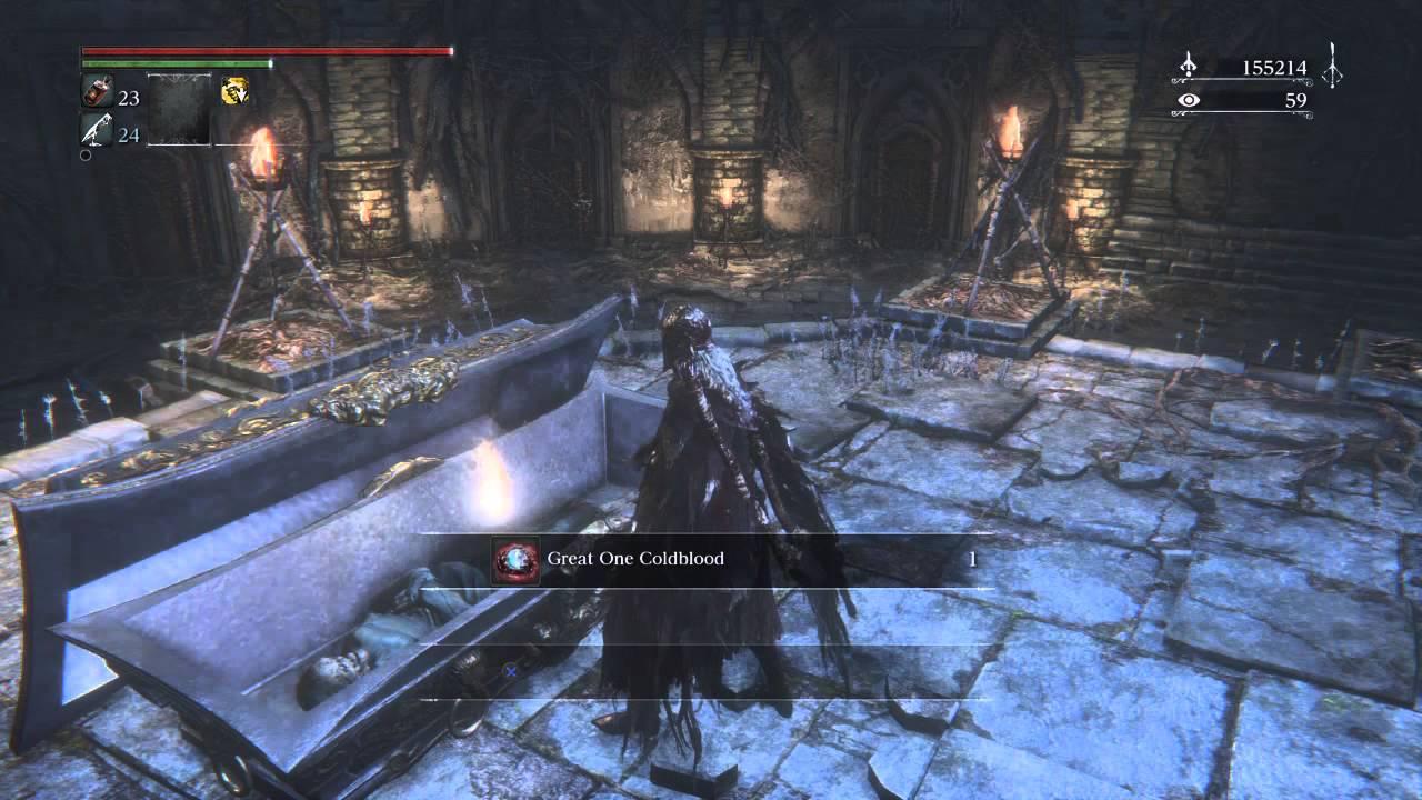 Bloodborne Finding Great One Coldblood rarest item - YouTube