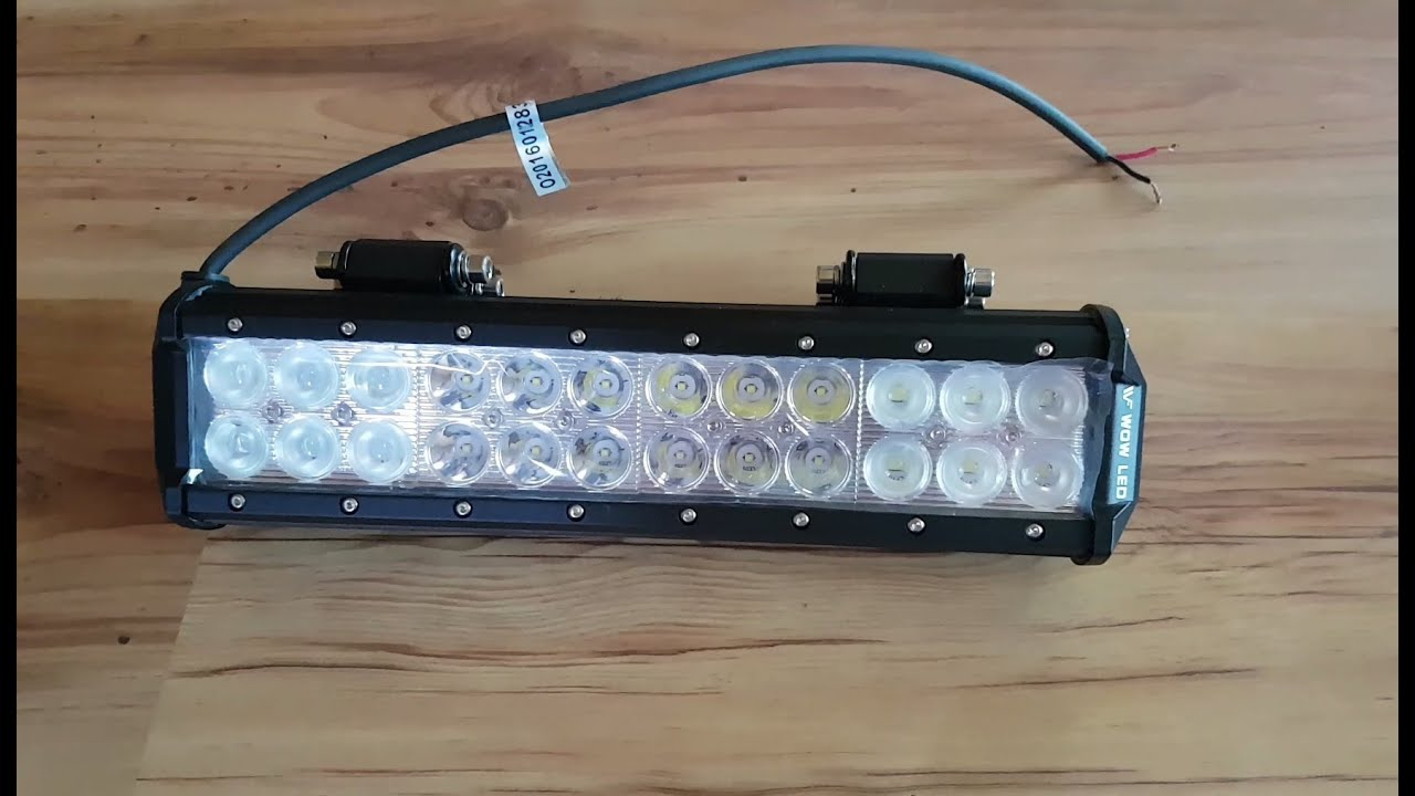 atv led light bar review installation and testing [ 1280 x 720 Pixel ]