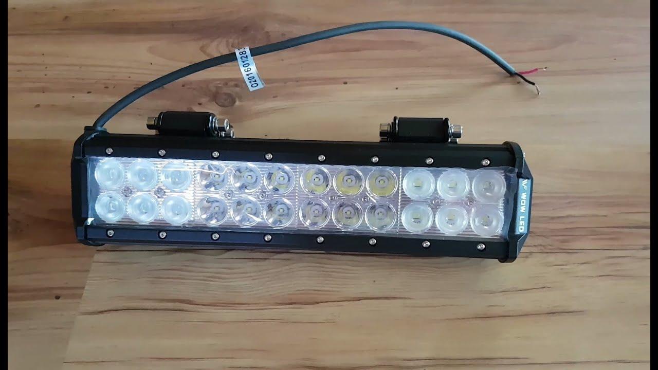 medium resolution of atv led light bar review installation and testing