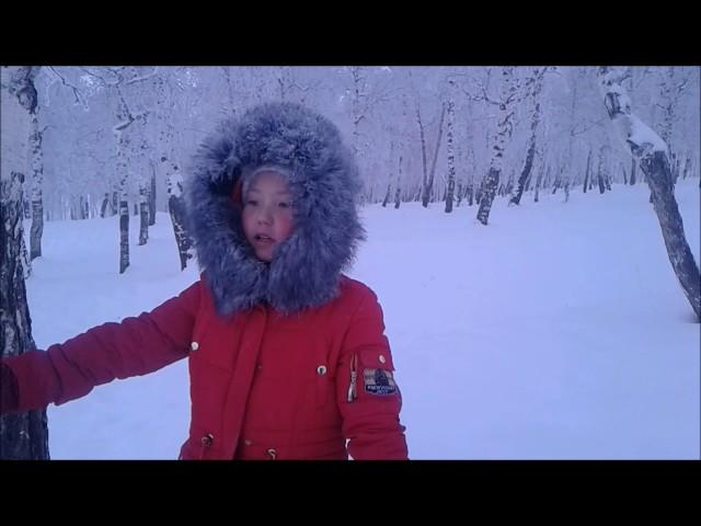 Изображение предпросмотра прочтения – ЯнаБадуева читает отрывок изпроизведения «Мороз, Красный нос» Н.А.Некрасова