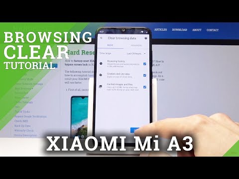 How To Erase Browser Data On XIAOMI Mi A3 - Clear Cookies / History / Cache