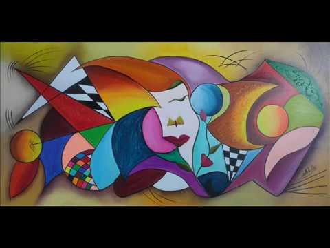 Cuadros modernos y decorativos pintados al oleo youtube for Imagenes de cuadros abstractos faciles