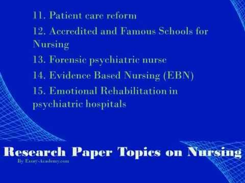 Nursing research paper topics ideas