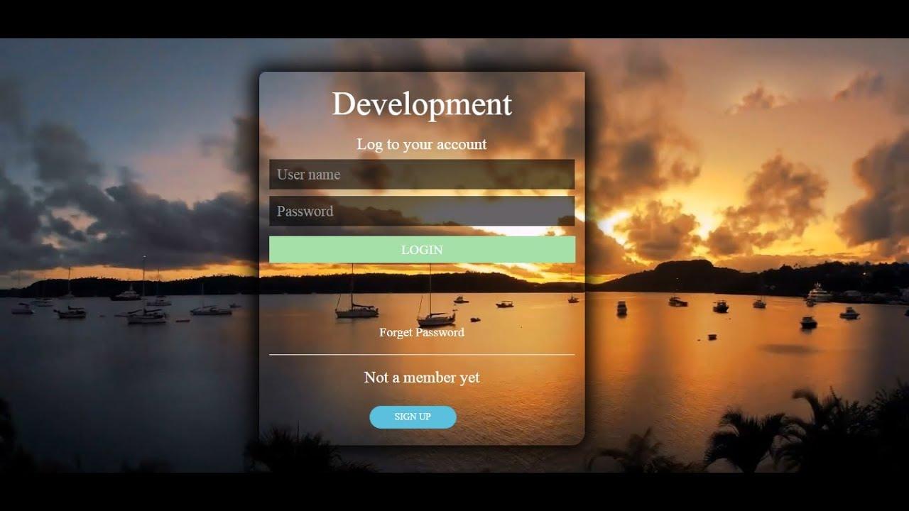 Bootstrap Login Form Source Code -Login Form Design Bootstrap -Transparent  Bootstrap Login Form Code