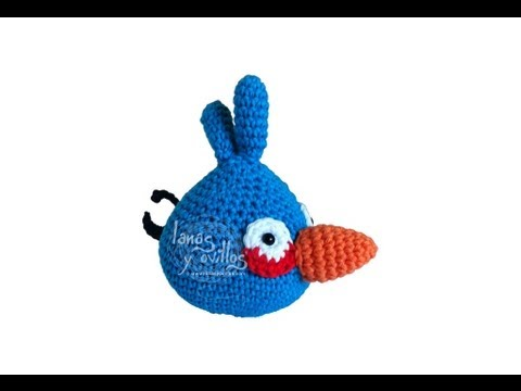Angry Bird Amigurumi Patron : Tutorial Angry Birds Azul Amigurumi Blue (English ...