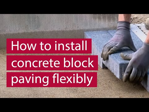 How to Install Concrete Block Paving Flexibly with a Road Base 2019 | Commercial Paving | Marshalls